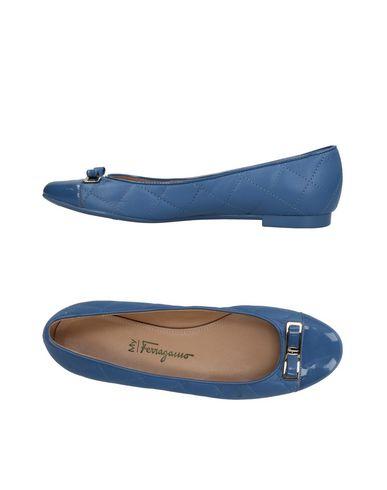 MY FERRAGAMO Ballet Flats in Pastel Blue