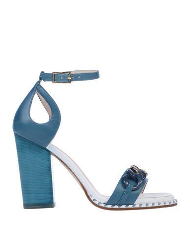 LELLA BALDI Sandals in Deep Jade