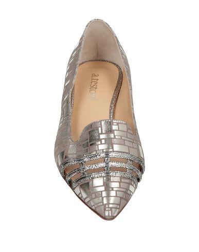 A. TESTONI Ballet Flats in Platinum