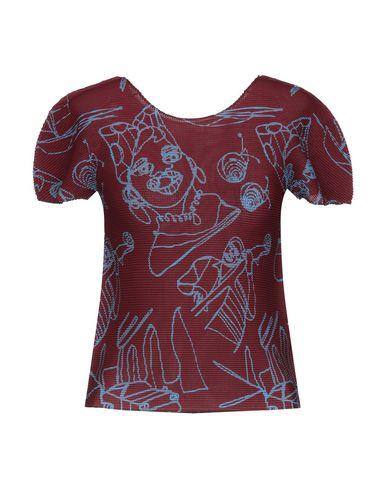 ISSEY MIYAKE CAULIFLOWER T-Shirts in Maroon