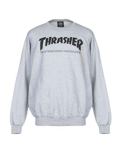 THRASHER Sweatshirt in Light Grey