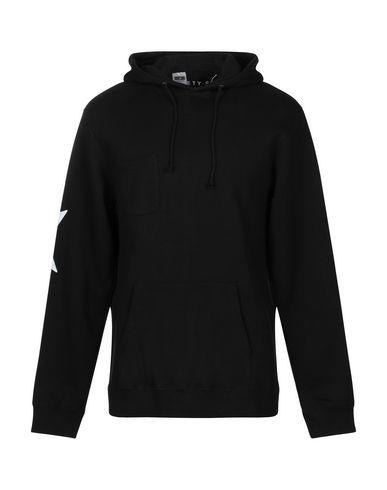 SOCIETY Hooded Sweatshirt in Black