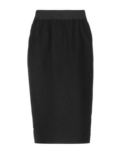 BARBARA ALAN Knee Length Skirt in Black
