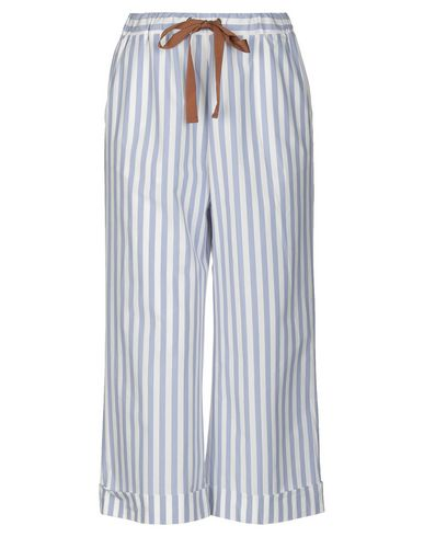 VIA MASINI 80 Cropped Pants & Culottes in Sky Blue