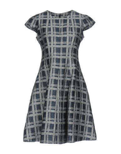 Cap-Sleeve Linen-Blend A-Line Dress, Astral Multi, Slate Blue