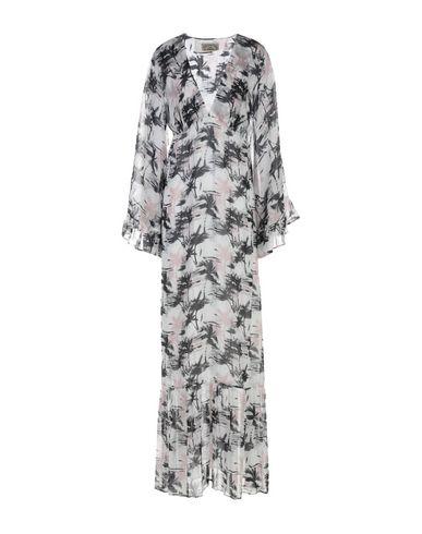 PINK MEMORIES Long Dress in Light Grey