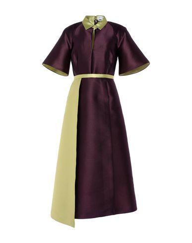 CATERINA GATTA Midi Dress in Deep Purple