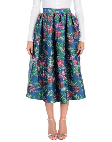 ALCOOLIQUE Midi Skirts in Blue