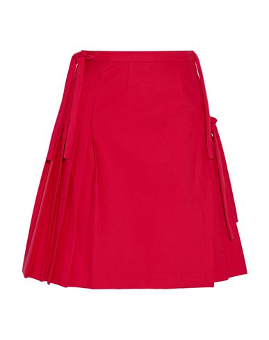 TITLE A Knee Length Skirt in Red