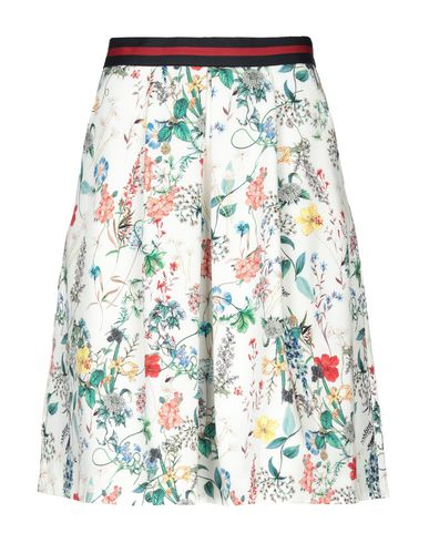 SEDUCTIVE Knee Length Skirt in Ivory