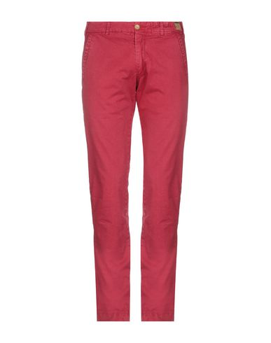 MONOCROM Casual Pants in Brick Red