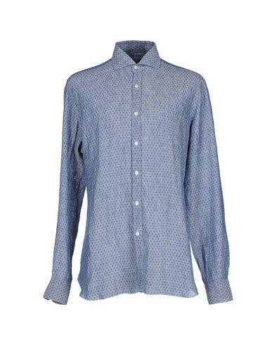 BARBA NAPOLI Linen Shirt in Dark Blue