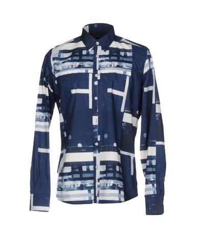 ANDREA INCONTRI Patterned Shirt in Slate Blue