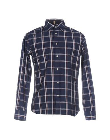 RANSOM Checked Shirt in Dark Blue