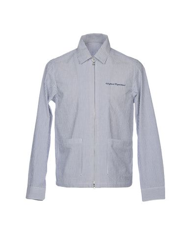 UNIFORM EXPERIMENT Striped Shirt in Slate Blue
