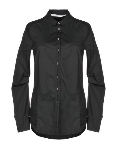 PRIMORDIAL IS PRIMITIVE Solid Color Shirts & Blouses in Black