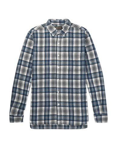 BEAMS Checked Shirt in Grey