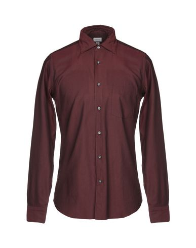 BORSA Solid Color Shirt in Maroon