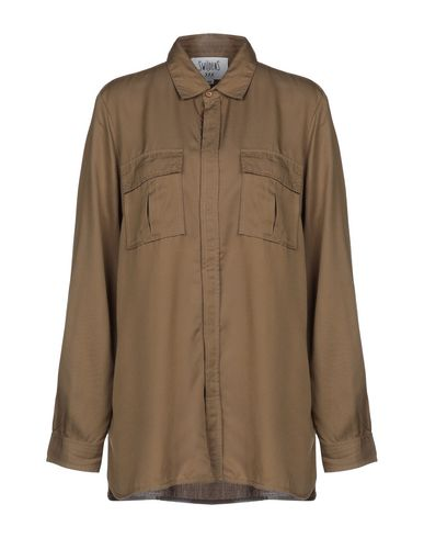 SWILDENS Solid Color Shirts & Blouses in Khaki