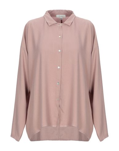 Crossley Solid Color Shirts & Blouses In Pastel Pink