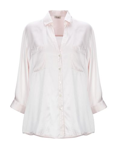HER SHIRT Solid Color Shirts & Blouses in Light Pink