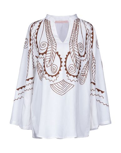 VALERIE KHALFON Patterned Shirts & Blouses in White