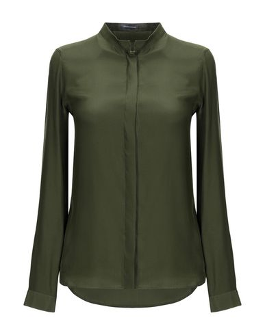 WALTER VOULAZ Silk Shirts & Blouses in Military Green