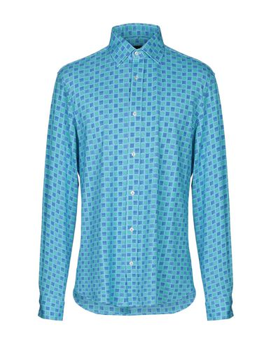 LUCHINO CAMICIE Patterned Shirt in Sky Blue
