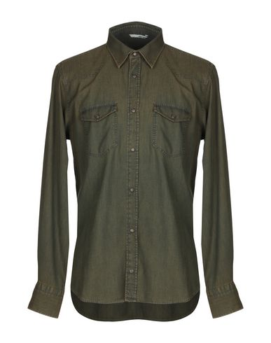ITALIA INDEPENDENT Solid Color Shirt in Khaki