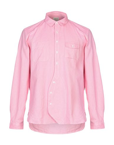 WOOSTER + LARDINI Solid Color Shirt in Pink