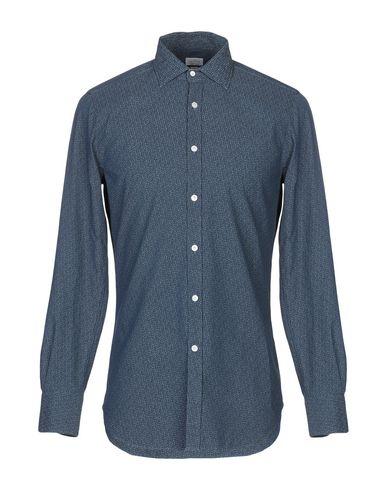 BORSA Patterned Shirt in Dark Blue