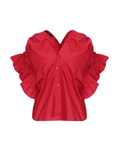 TPN Solid Color Shirts & Blouses in Red
