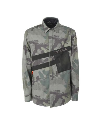 LETASCA Patterned Shirt in Military Green