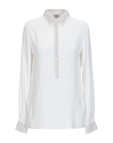 HER SHIRT Solid Color Shirts & Blouses in White