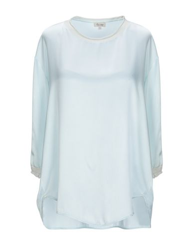 HER SHIRT Blouse in Sky Blue