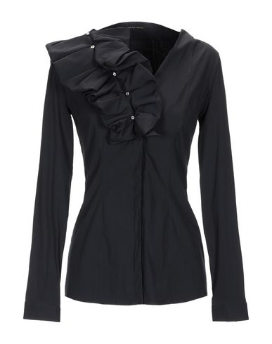 WALTER VOULAZ Solid Color Shirts & Blouses in Black