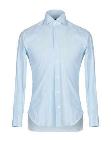 BARBA NAPOLI Solid Color Shirt in Sky Blue
