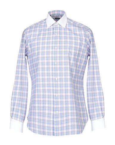 BARBA NAPOLI Checked Shirt in Blue
