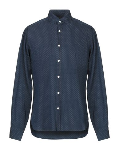 BARBA NAPOLI Patterned Shirt in Blue