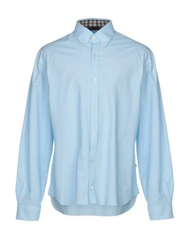 AQUASCUTUM Solid Color Shirt in Sky Blue