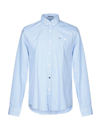 WEEKEND OFFENDER Checked Shirt in Azure