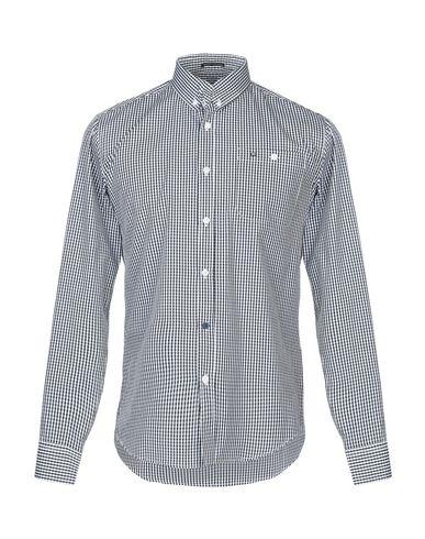 WEEKEND OFFENDER Checked Shirt in Dark Blue