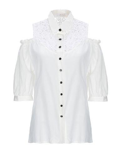 BEAYUKMUI Lace Shirts & Blouses in Ivory