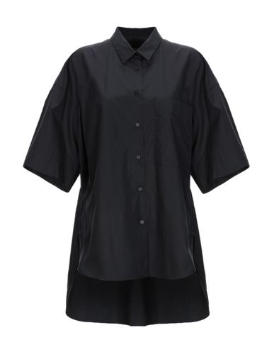 LAREIDA Solid Color Shirts & Blouses in Black