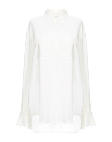 LAREIDA Solid Color Shirts & Blouses in Ivory
