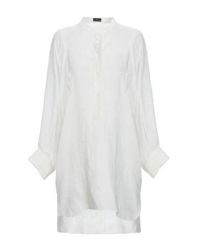 Solid Color Shirts & Blouses in White