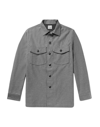 ORSLOW Solid Color Shirt in Grey