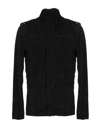GOOSECRAFT Leather Jacket in Dark Blue