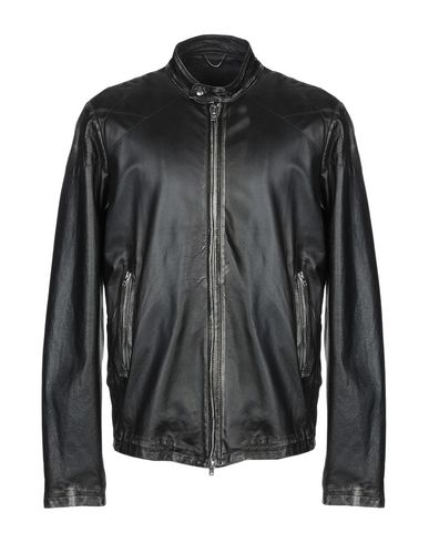 WLG BY GIORGIO BRATO Leather Jacket in Black