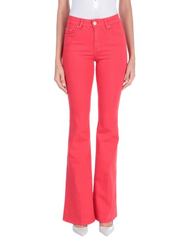 DON'T CRY Denim Pants in Red